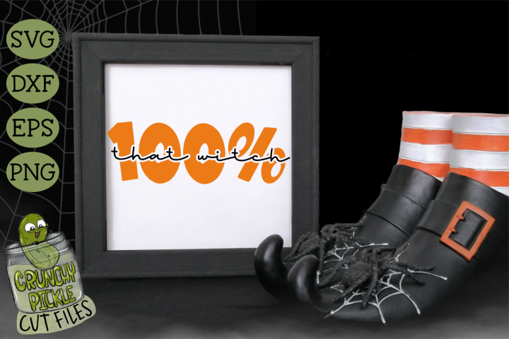 100 That Witch Halloween SVG Cut File