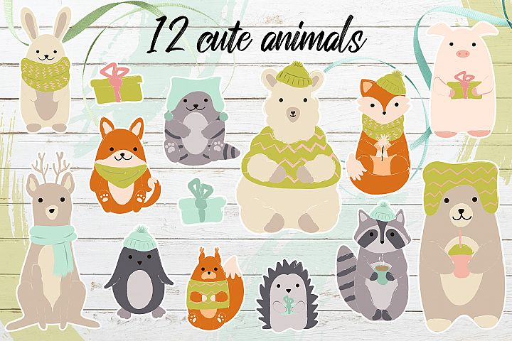 Winter's cute animals example 3