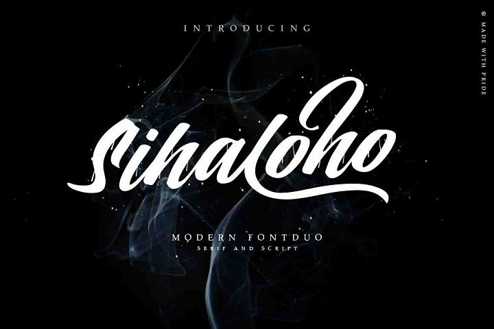 Sihaloho Script, Swash and Serif Typeface