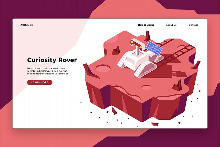Curiosity Rover - Banner & Landing Page