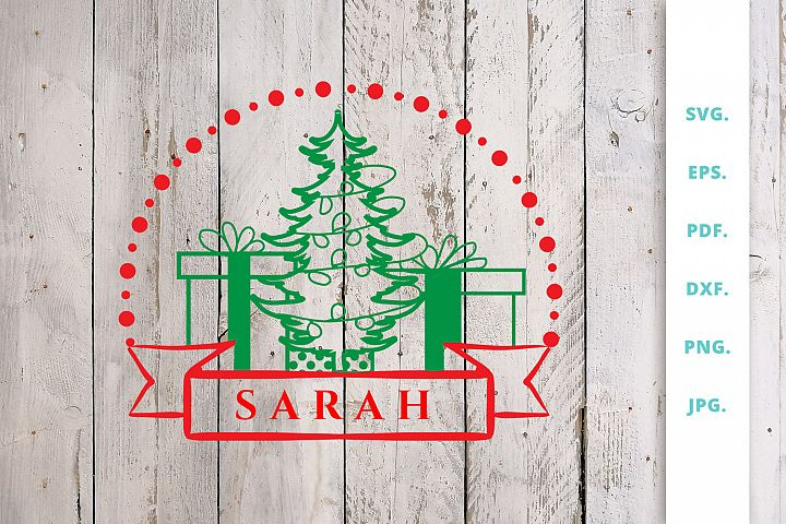 Christmas Monogram SVG | DXF