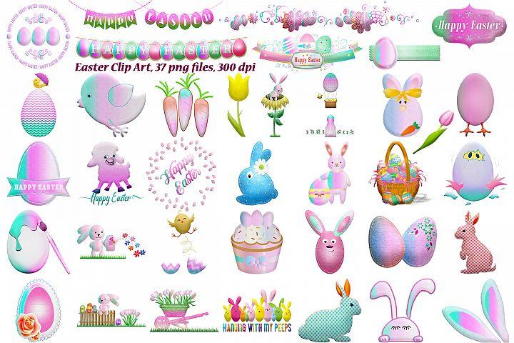 Easter Pastel Colors Clip Art