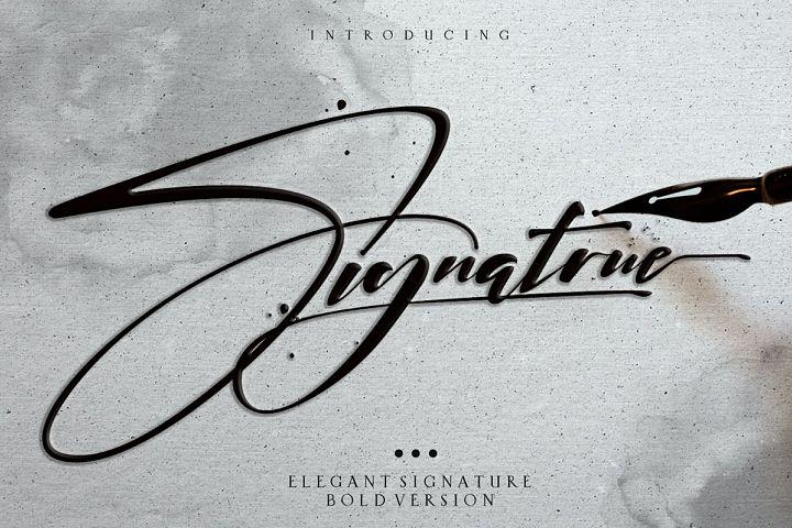 signatrue |elegant signature|bold