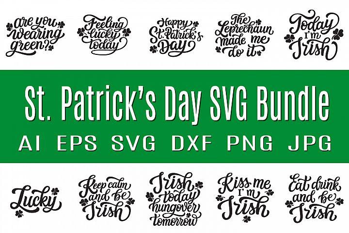 St. Patricks Day SVG bundle. 10 quotes