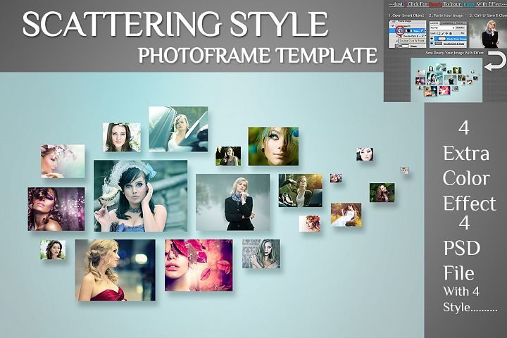Scattering Style Photoframe Template