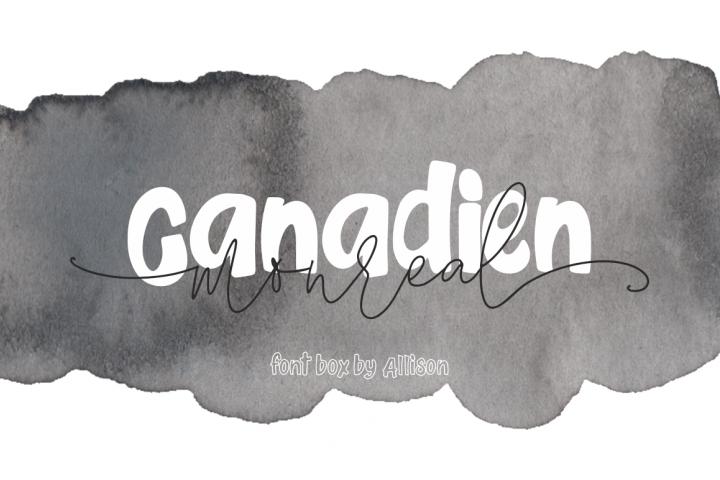 Canadien Monreal fontbox