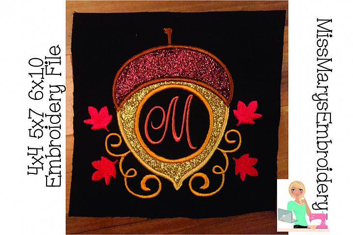Applique Acorn Embroidery
