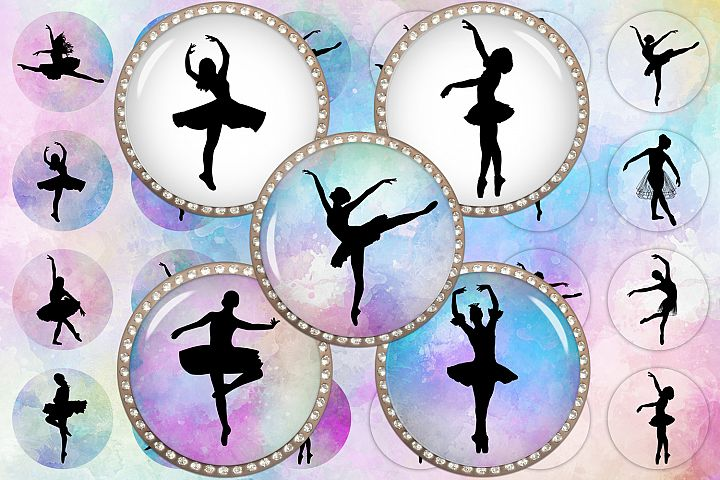Ballerina Silhouettes,Ballet Printable,Silhouettes Images