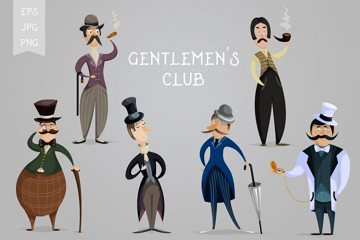 Gentlemens club.Cartoon characters