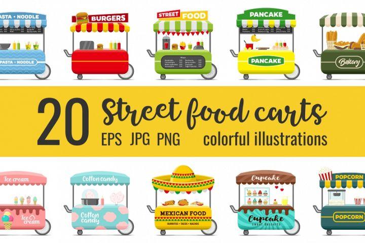 20 fast food street carts