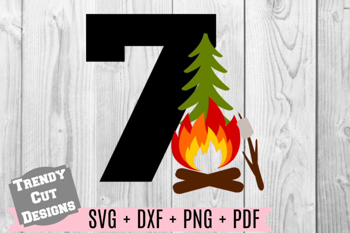 7th Campfire Birthday Set SVG