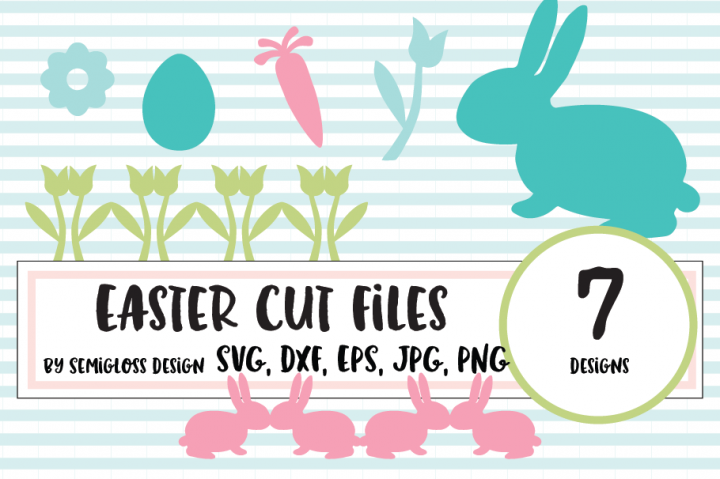 Easter Bunny SVG and Cut File Set