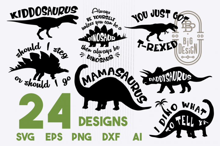 SVG Dinosaurs Bundle - 16 dinosaurs sayings SVG Cut Files