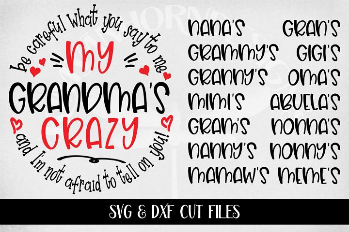 Crazy Grandma Bundle svg and dxf only