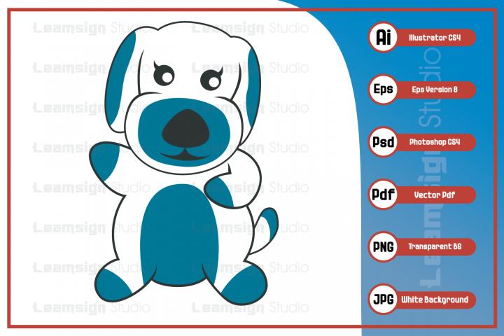 Sweet dog mascot character illustration
