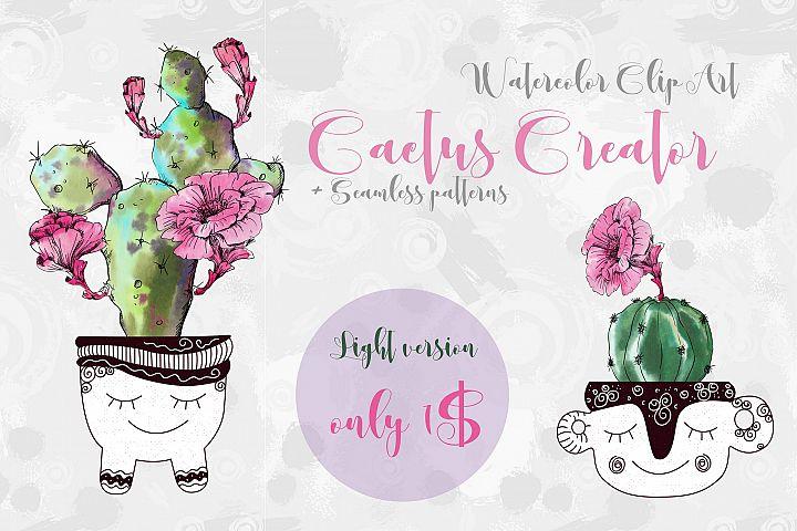 Watercolor Cactus Creator Light Version