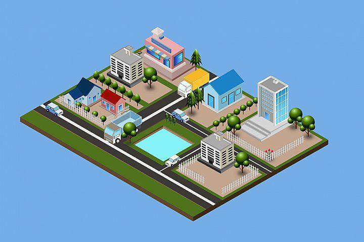 Isometric City Illustration 06