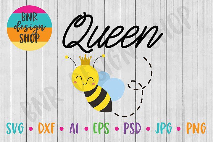 Queen Bee SVG, Bee SVG, SVG File, DXF