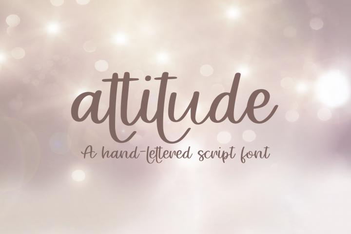 Attitude - A Hand-Lettered Script Font