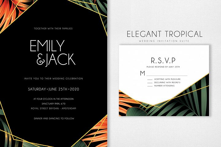Elegant Tropical Wedding Suite