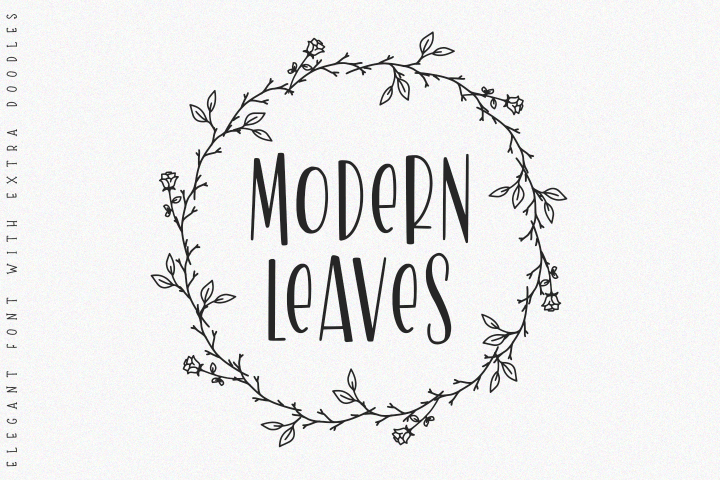 Modern Leaves -with doodles-