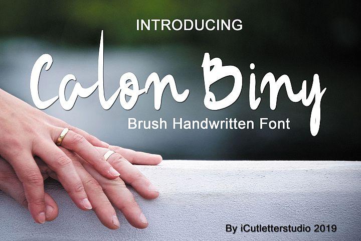 Calon Biny - Brush Handwriteen Font