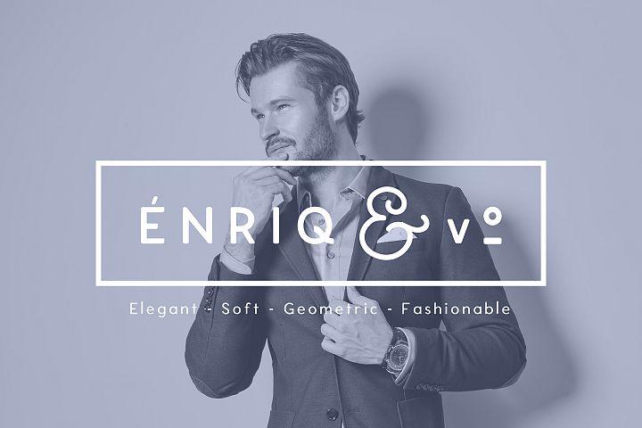 Enrique - 8 Fonts Fashionable Elegant Sans Serif Font example image 12