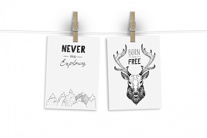 Wild Forest graphic pack - Free Design of The Week Design 6