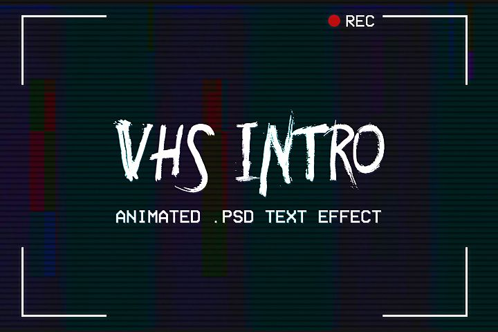 VHS Intro - Animated Text Effect