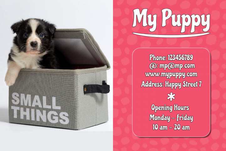 My Puppy Business Card Template