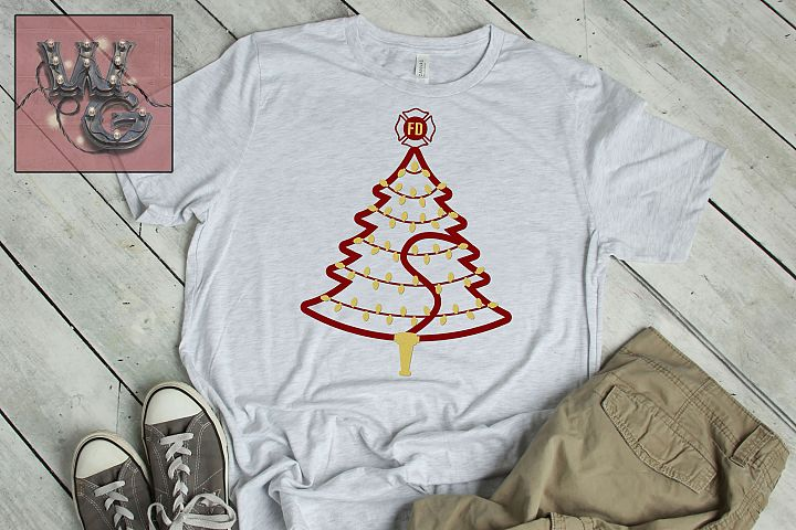 Firemans Christmas Tree SVG DXF PNG JPEG Comm