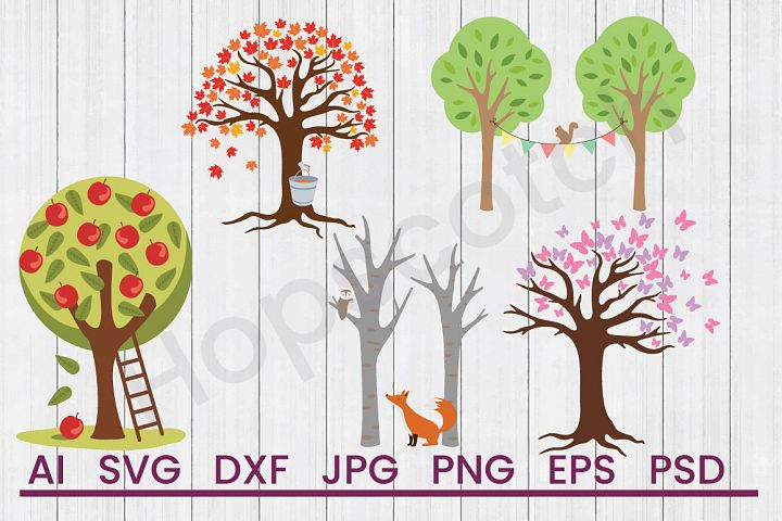 Trees SVG Bundle, DXF File, Cuttable File