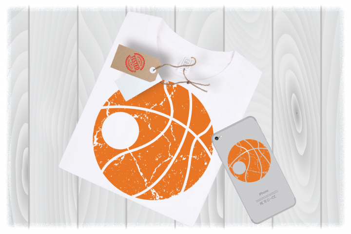 Distressed Basketball Monogram Svg Files for Cricut Designs