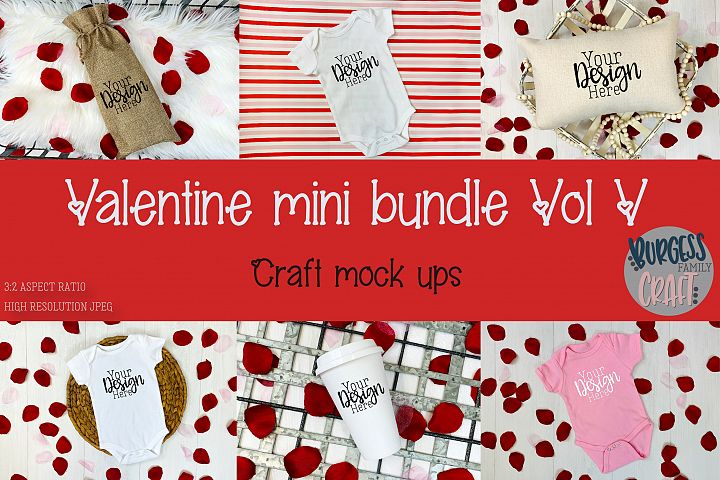 Valentine Mini Bundle Vol V | Craft mock ups