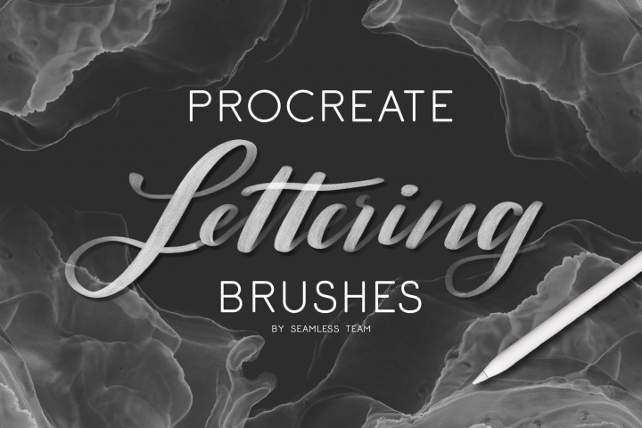 10 Procreate lettering brushes