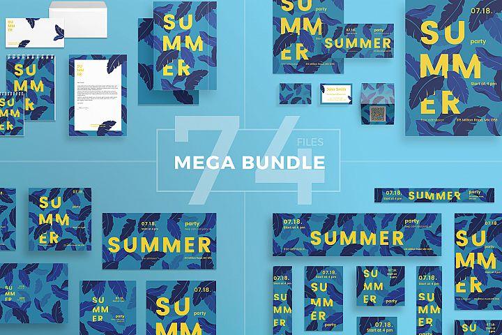Summer Party Design Templates Bundle
