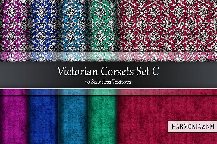 Victorian Corsets Set C Velvet Damask 10 Seamless Textures