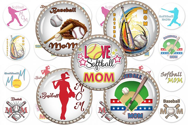 Sports Digital Collage Sheet,Baseball Digital Image,Softball