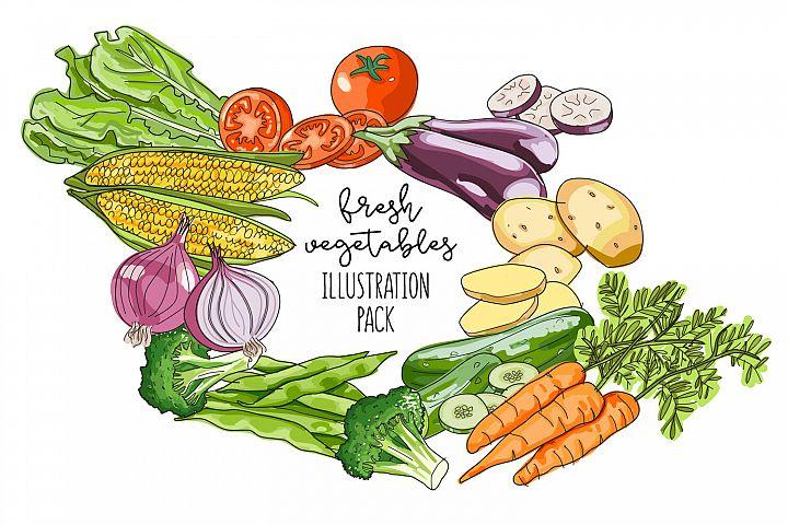 Vegetables Illustration vector pack