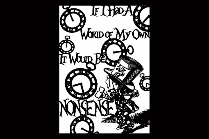 Alice in Wonderland Madhatters Nonsense template