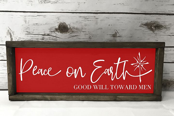 Peace on Earth - Christmas Star - SVG EPS PNG example 1