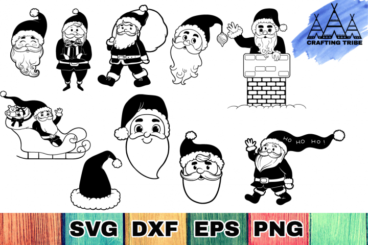 Santa Claus SVG Cut Files Pack