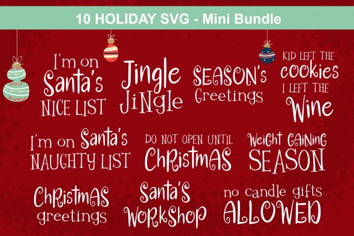 Christmas Holiday SVG Mini Bundle