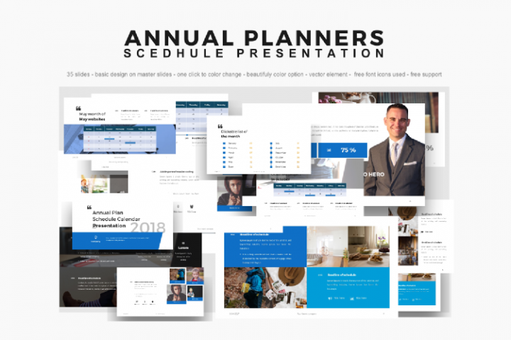 Annual Planner Schedule Presentation PowerPoint Template