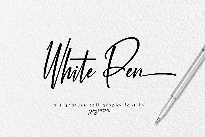 White Pen Script