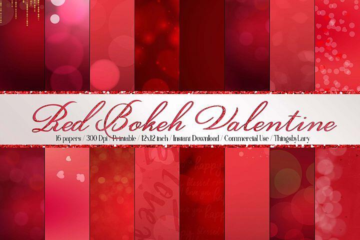 16 Luxury Red Bokeh Valentine Background Digital Images