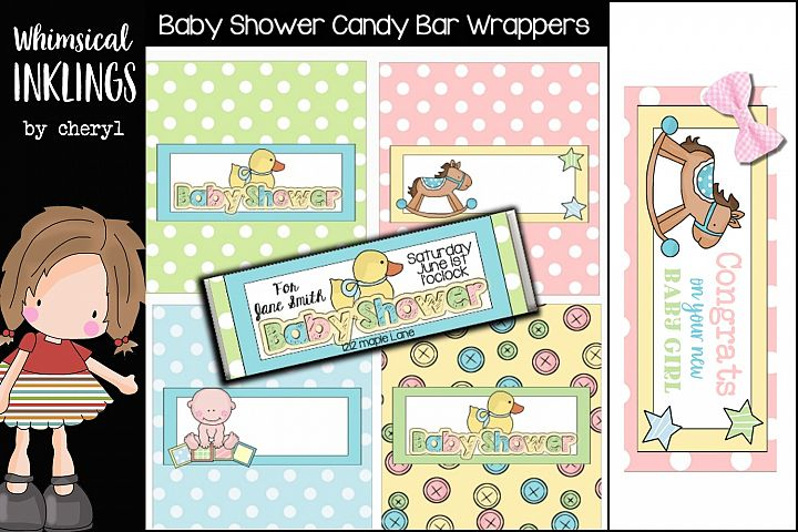 Baby Shower Candy Bar Wrapper Printables