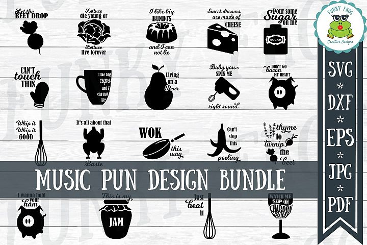 Music Pun Design Bundle - SVG Cut Files for Crafters