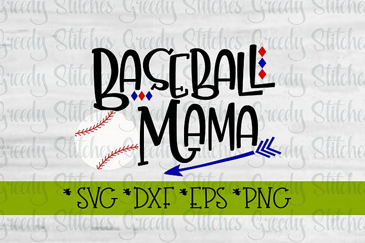 Baseball Mama SVG, DXF, EPS, PNG Files