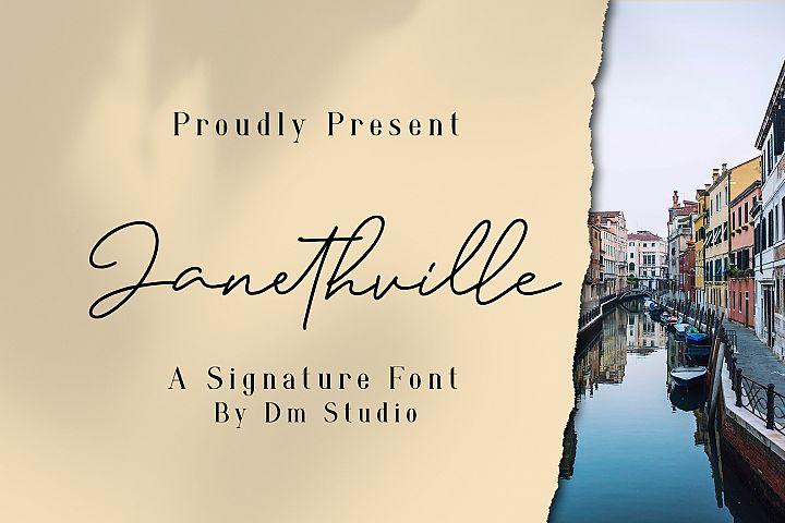 Janethville - Signature Font